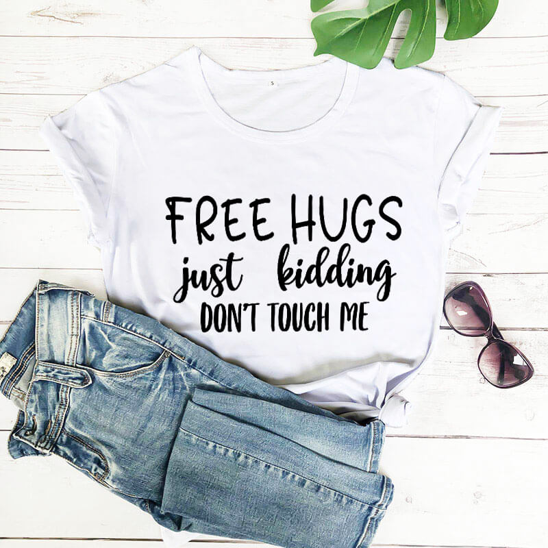 FREE HUGS AVAILABLE HERE Funny New T-shirt